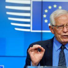 J. Borrellis: ES rengia naujas sankcijas Baltarusijai
