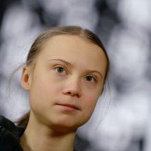 G. Thunberg grįžo protestuoti prie Švedijos parlamento