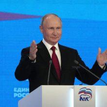 Rusijos valdančiosios partijos kongrese V. Putinas pareikalavo sąžiningų rinkimų