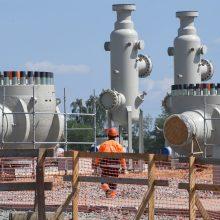 """Nutiesta daugiau nei pusė Rusiją ir Vokietiją sujungsiančio dujotiekio """"Nord Stream 2"""