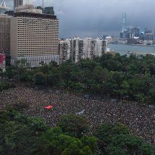 Honkongo protestuotojai ketina atkartoti Baltijos kelią