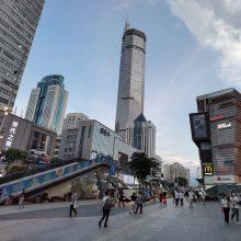 Kinijos Šendženo mieste pradėjus svyruoti dangoraižiui kilo panika