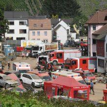 Nuo potvynio nukentėjusiame Vokietijos regione užfiksuota daugiau kaip 30 teisės pažeidimų