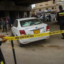 Pakistano Karačio mieste per šaudynes sužeistas kinas