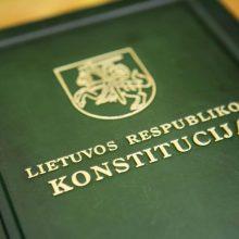 Rengiamos dvi atskiros Konstitucijai skirtos konferencijos