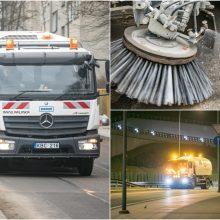 Vilniaus gatvių ir šaligatvių švarinimas kaip ant delno: galima stebėti žemėlapyje