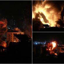 Intensyvėjant diplomatinėms pastangoms Izraelio smūgiai Gazos Ruože nesiliauja