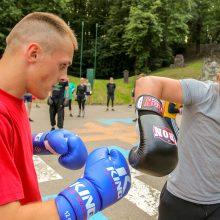 Vasarą su boksu – nenuvilianti nemokamų treniruočių tradicija
