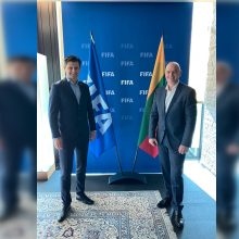 T. Danilevičius po susitikimo su G. Infantino: džiaugiamės FIFA palaikymu ir pagalba