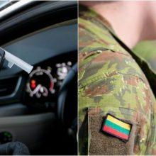 Vilniaus rajone prie vairo sulaikytas neblaivus karys