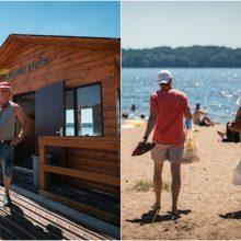 Kauno paplūdimiuose budinčių gelbėtojų vadas: maudytis Lampėdžio ežere šiuo metu negalima