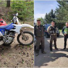Per reidą nubausti 8 keturračių ir motociklų vairuotojai