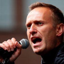 Rusija kaltina Vakarus siekiu paveikti jos rinkimus naudojantis A. Navalnu