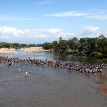 Prie pietinės Meksikos sienos sulaikyta apie 800 migrantų, keliaujančių link JAV