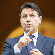 Italijos premjeras G. Conte: negalime skubiai sugrįžti prie įprasto gyvenimo