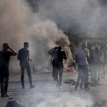 Izraelio ir palestiniečių konfliktas tęsiasi nepaisant pastangų užtikrinti paliaubas