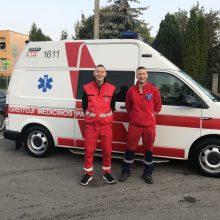 Paramedikai praktikantai: kiekviena diena kaip loterija