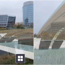 Itin realistiškas naujo tilto per Nerį vaizdas: inžinerinė inovacija atveria neribotas galimybes
