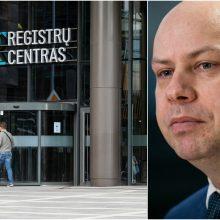 Planas dėl Registrų centro: naujos patalpos, kuriamos rezervinės duomenų bazės