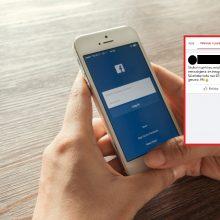 """Virtualus patrulis aptiko naują sukčiavimo būdą: įspėja """"Facebook"""" vartotojus"""