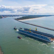 """""""Vakarų laivų gamyklos"""" įmonių grupė paruošė darbui didžiausią doką Baltijos šalyse"""