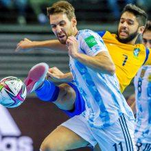 Pietų Amerikos salės futbolo galiūnų akistatoje triumfavo pasaulio čempionai argentiniečiai