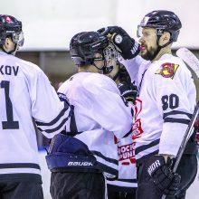 """Antrą kartą Kaune laimėjusi """"Hockey Punks"""" ekipa – per žingsnį nuo finalo"""