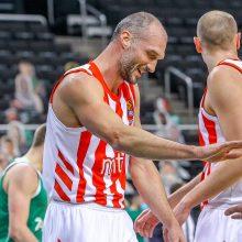"""""""Žalgiris"""" ir antrą kartą įrodė pranašumą prieš """"Crvena Zvezda"""" krepšininkus"""