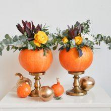 Moliūgai interjere – rudens saulėtos šypsenos