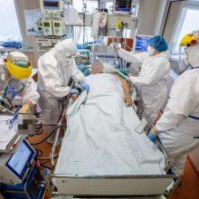 Ligoninėse gydoma 1,85 tūkst. COVID-19 pacientų, 138 – reanimacijoje