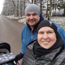 Ilgai atžalos susilaukti negalėjusi L. Tamulytė-Stončė jau svajoja ir apie antrą vaiką