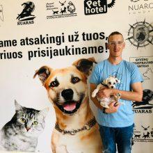 M. Jonušas-Minedas: turime garsiai kalbėti ne tik apie pareigą suteikti beglobiams gyvūnams namus