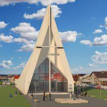 Šilainiuose kylančios bažnyčios rėmėjai bus įamžinti širdžių sienoje