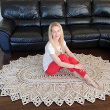 Reljefinių kilimų kūrėja stebina norveges: pomėgis nuskaidrino kasdienybę emigracijoje