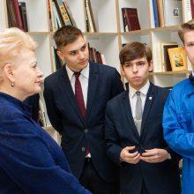 Jauniesiems Lietuvos išradėjams – išskirtinis prezidentės dėmesys