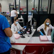 Praėjusią parą nuo koronaviruso pirmąja doze paskiepyta 110 žmonių