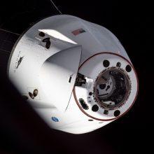 """""""SpaceX"""" krovininė kapsulė sėkmingai susijungė su TKS"""