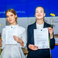 Kauno jėzuitų gimnazijos mokinė varžysis dėl pergalės tarptautiniame debatų konkurse