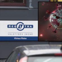 """Dar keturiems """"Regitros"""" darbuotojams Vilniuje nustatytas koronavirusas"""