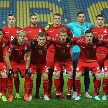 Lietuvos futbolininkai tuščiame stadione pralaimėjo rumunams