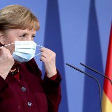 Vokietijoje bus svarstoma pratęsti suvaržymus dėl pandemijos