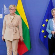 I. Šimonytė dėl susitikimo su U. von der Leyen keitė vizito Estijoje darbotvarkę