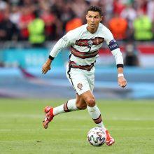 Ilgai Budapešte vargę portugalai startavo pergale, C. Ronaldo tapo rekordininku