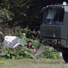 Lenkija kaltina Baltarusiją dėl migrantų stovyklos nepasiekiančios humanitarinės pagalbos
