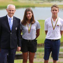 Lietuvos golfo čempionate – vyresniems varžovams nosis nušluostęs 13-metis