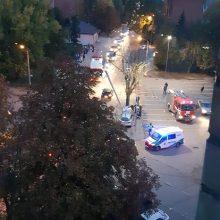 A. Baranausko gatvėje girtas vairuotojas atsitrenkė į stulpą