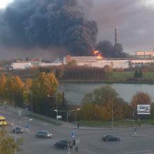 Dėl gaisro Alytuje ekstremali situacija valstybėje neskelbiama (atnaujinta)