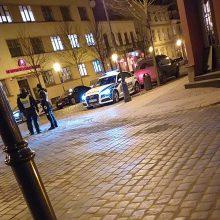 Klaipėdos senamiestyje – penki policijos ekipažai