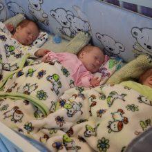 Vilkaviškyje šeimai gimė trys kūdikiai: galvojo, kad laukiasi dvynukų