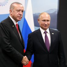 R. T. Erdoganas susitiks su Putinu aptarti JAV pajėgų išvedimo iš Sirijos